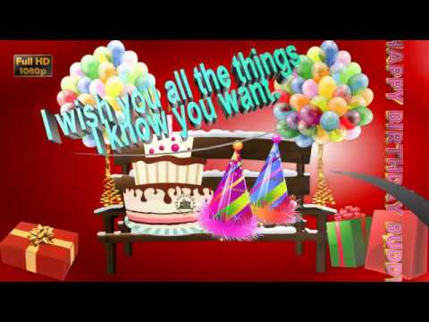 Happy Birthday Wishes For Friend,Whatsapp Video,Greetings,Animation,Messages,Quotes,Download
