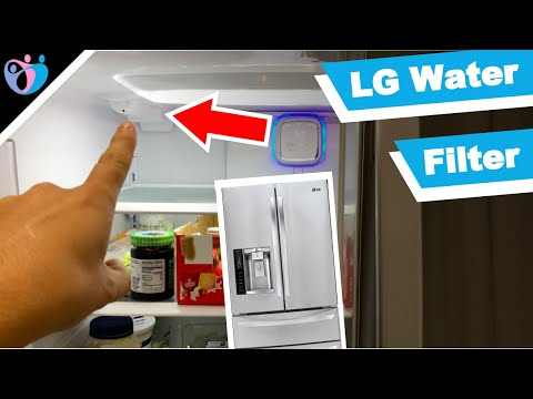 How To Replace LG Refrigerator Water Filter  LMXS28626S
