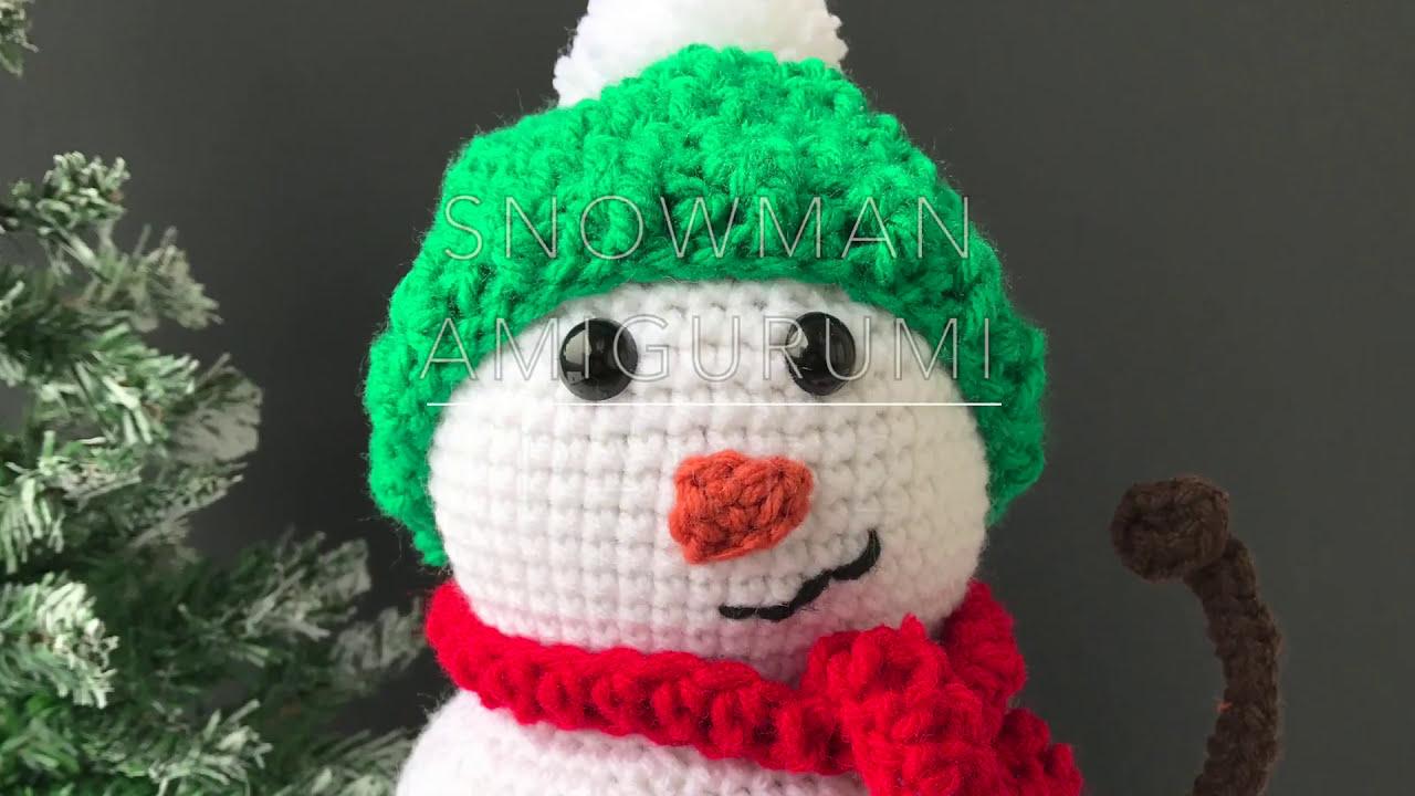 Crochet snowman amigurumi | Amiguroom Toys | 720x1280