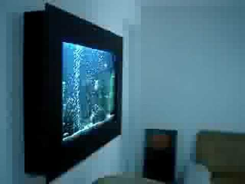 Acuario plasma en madera youtube for Acuario salon de celebraciones