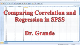 Comparing Pearson Correlation and Linear Regression in SPSS