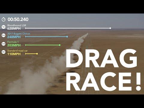Drag Racing Bloodhound LSR