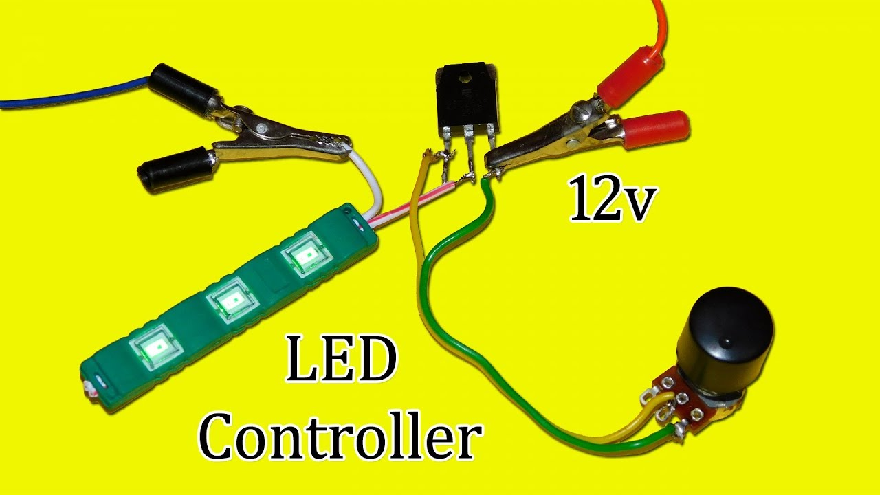 Simple 12v LED Light Controller Circuit - YouTube
