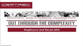 RegSource® GRC and Recall® GRC Webinar