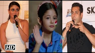 Salman & Kareena React on working with Harshali Malhotra