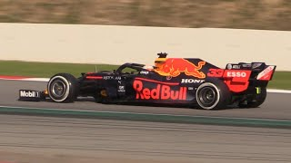 F1 2020 Pre Season Testing at Barcelona Day 1-RB16,F1000, W11 & More