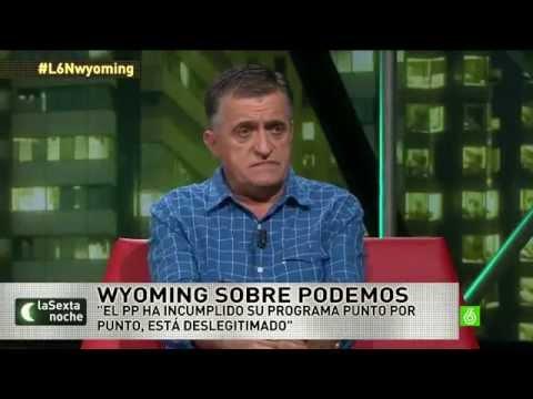 El Gran Wyoming humilla a una diputada del PP y da su opinión sobre PODEMOS