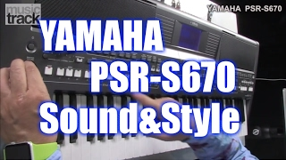 YAMAHA PSR-S670 Demo & Review - Sound & Style [English Captions]