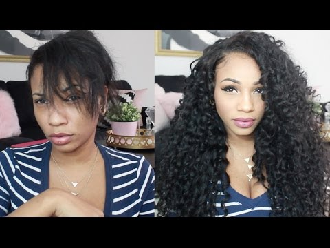 How to Blend Natural Hair w/ Curly Upart Wig | Vishine Hair