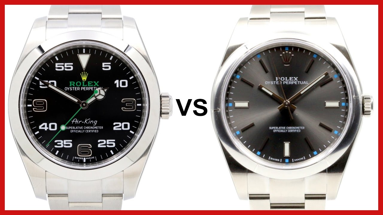 Rolex Air King Vs Oyster Perpetual Comparison
