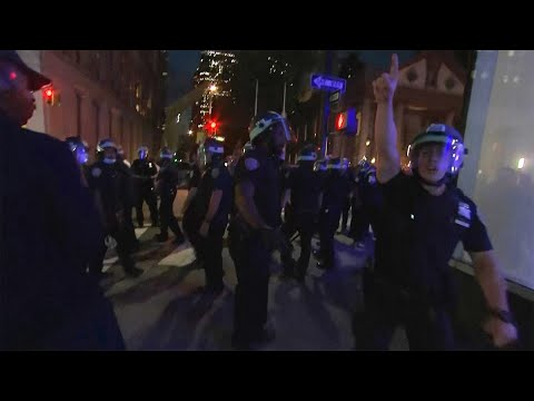NYPD Officers Confront Journalists Covering George Floyd NYC Protests