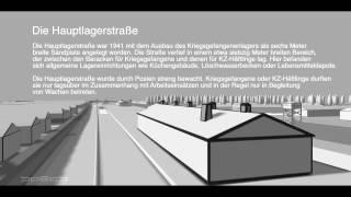Flug durch eine Rekonstruktion des Konzentrationslagers Bergen-Belsen