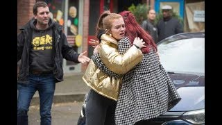 EastEnders - Tiffany Nearly Gets hit by a Car (15th January 2018)