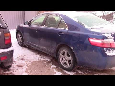 Тойота Камри Заводим в мороз Toyota Camry Start car in the cold