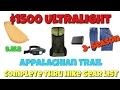 $1500 Ultralight Appalachian Trail Gear List