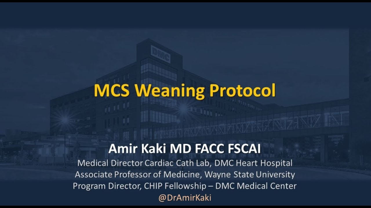 National CSI: Weaning Patients from MCS