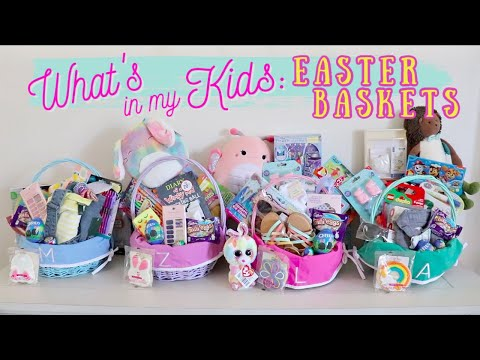 WHAT'S IN MY KIDS EASTER BASKETS 2020 || EASTER BASKET IDEAS TODDLER TO TEEN
