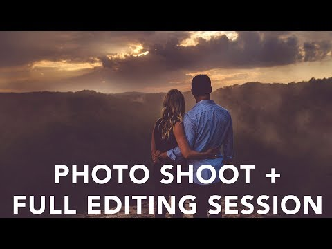 Behind the Scenes Photography Shoot + FULL EDITING SESSION!