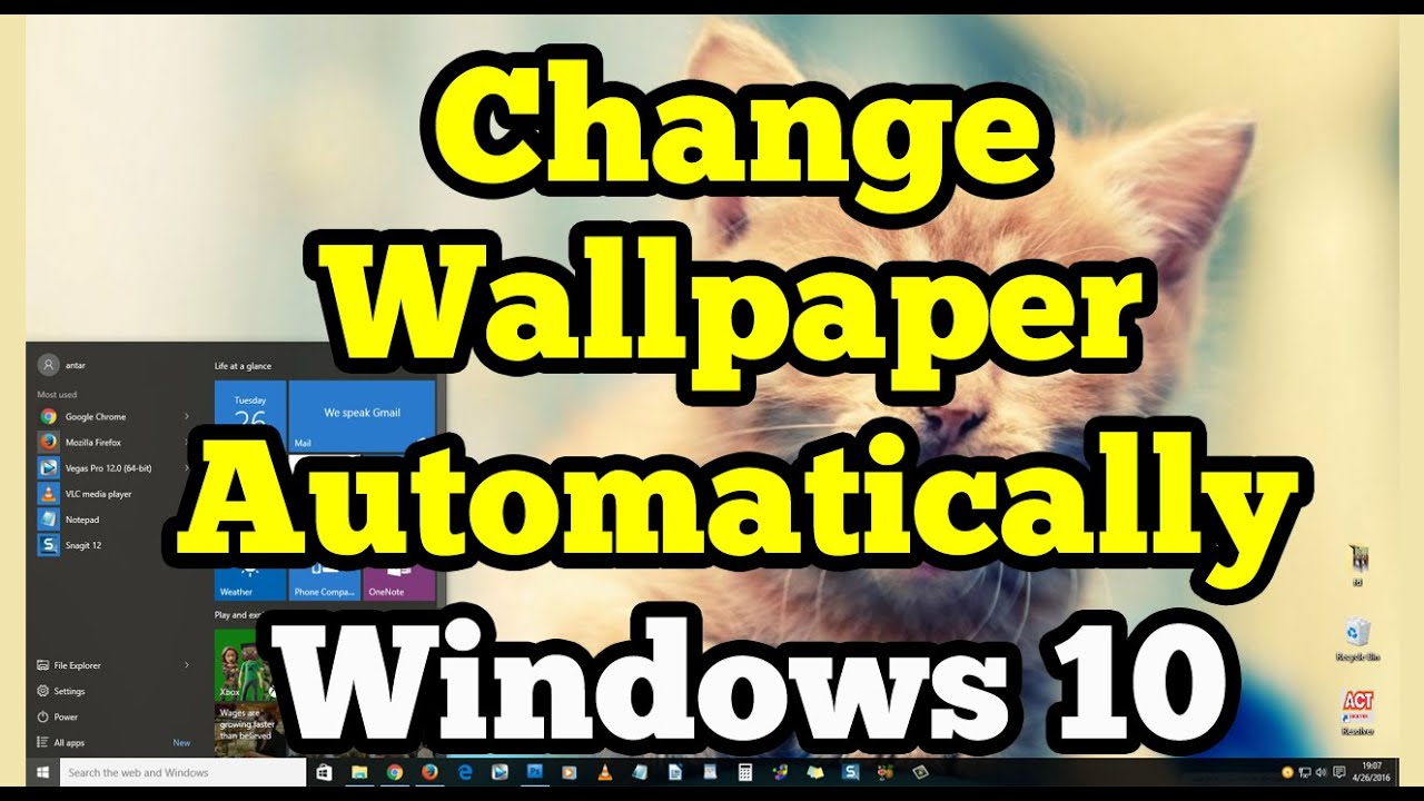 Change Wallpaper Automatically on Windows 10 - YouTube