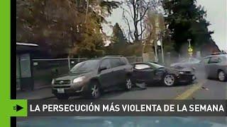 Impactante persecución: la Policía acribilla a balazos a un ladrón de coches