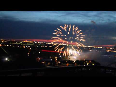 Canada Day 150th Anniversary Fireworks - Edmonton Penthouse View July 1, 2017