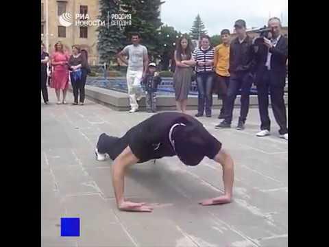 Житель Армении поставил рекорд по отжиманиям