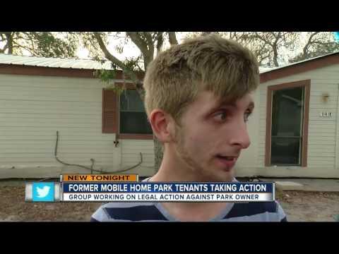 Former mobile home park tenants taking action