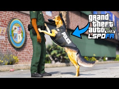 So I played as a police K9 dog!! (GTA 5 Mods - LSPDFR Gameplay)