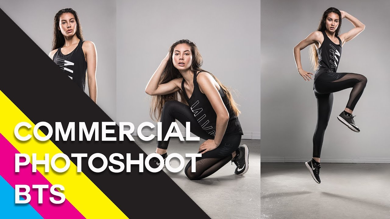 Sportswear Commercial Project Photoshoot using Broncolor Para 133 Behind the Scenes