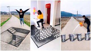 Đỉnh Cao Nghệ Thuật Vẽ Tranh 3D Đường Phố Trung Quốc P1 ✍️✍️ | Tik Tok China
