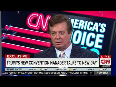 "Chris Cuomo Grills Trump's Paul Manafort on ""Shady"" Past, ""Connection to Russian Bad Guys"""