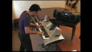 Scooter One + Eiffel 65 Blue + Snap Rhythm is a Dancer + Darude Sandstorm - keyboard piano FLO LIVE