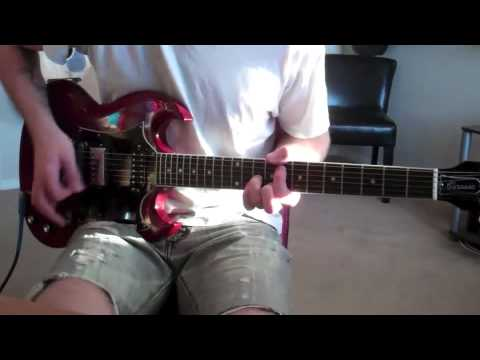 the used blue and yellow guitar cover youtube. Black Bedroom Furniture Sets. Home Design Ideas