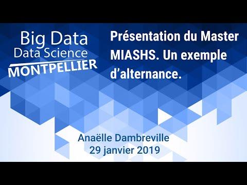 Présentation Du Master MIASHS - Data Scientist - Montpellier 3 - Anaëlle Dambreville