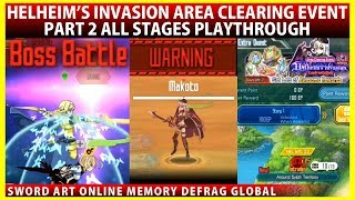 Makoto Again? The 2nd Part of Area Clearing Event All Stages Playthrough (SAOMD Memory Defrag)