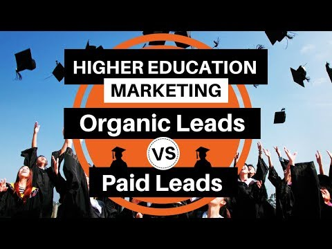 ✅Higher Education Marketing – Organic Leads vs Paid Leads ✅
