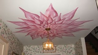 Top ceiling paint ideas, ceiling decorations with own hands