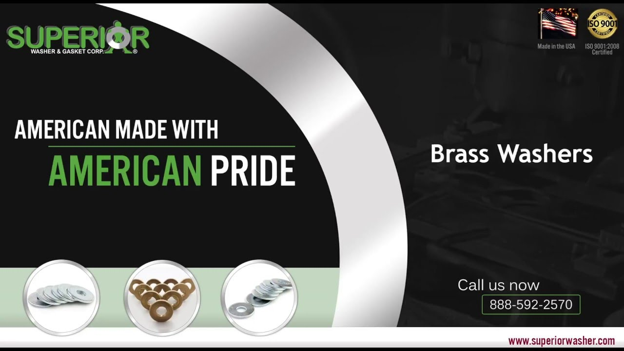 Flat Brass Washers - American Made by Superior Washer