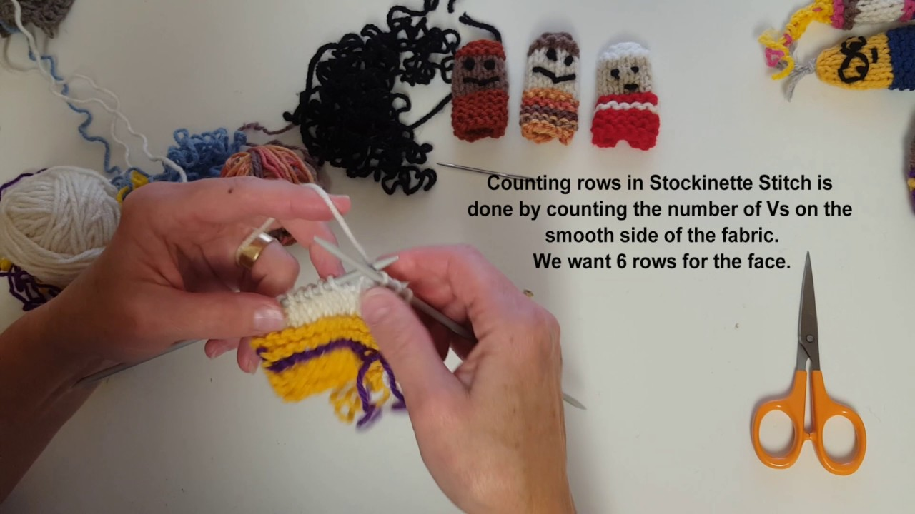 Knitted Finger Puppets - YouTube