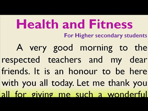 Speech on Health and Fitness in English for Higher Secondary Students   Essay on Health and fitness