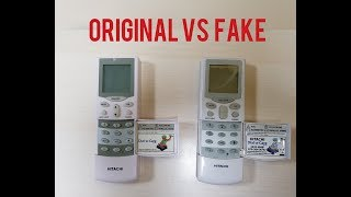 HITACHI | AC Remote for Split & Window AC | Original vs Copy | Unboxing