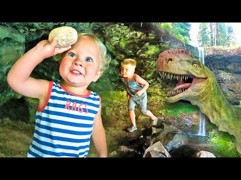 STEALING REAL SURPRISE DINOSAUR EGGS! - Cave Exploration and Dino Dig!