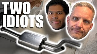 Two Idiots Install a Truck Exhaust!