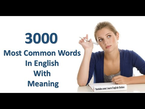 English Dictionary 🌟3000🌟 most common words in english with meaning