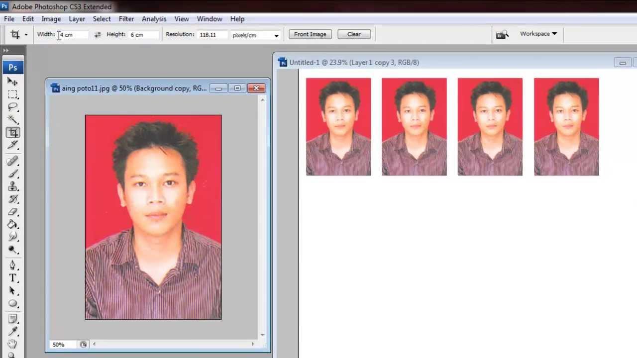 Cara Mudah Banget Membuat Pas Photo Dengan Photoshop Youtube