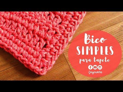 Bico de crochê simples e fácil para tapete | AULA 1 - JNY Crochê