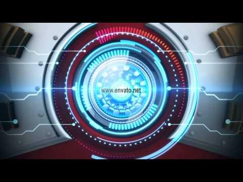 sci fi arc reactor logo revealafter effects temp youtube