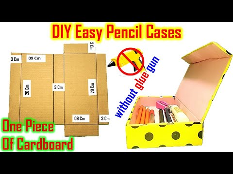 DIY Easy Pencil Box Simple Pencil Case