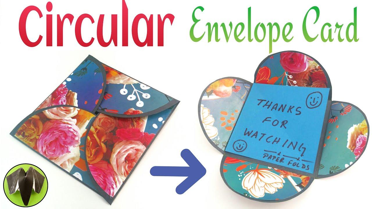 Circular interlocking envelope card diy tutorial by paper circular interlocking envelope card diy tutorial by paper folds youtube kristyandbryce Choice Image