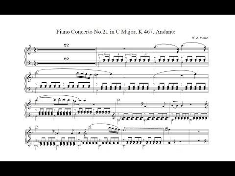 MozartPiano Concerto No21 in C major, K 467Andante